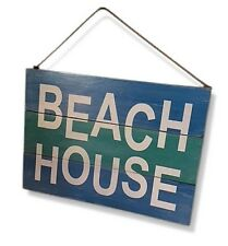 BEACH House Vintage Beach Style Rustic Sign with Hanging String