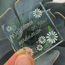 Spaceform Miniature Glass Token Daisies Well Done Graduation Keepsake Sweet Gift