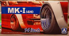 Aoshima 053874 Mk-I (4h) 14 pulgadas llantas + neumáticos Liberty Walk 1:24 # 54