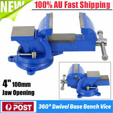 4In Heavy Duty Table Bench Vice Workbench Anvil Swivel Base Grip Clamp 100mm AU