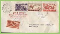 Vietnam 1953 Flight cover, Saigon to Wake Island, with flight cachet