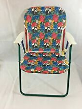 Kids Folding Fabric Arm Chair Zoo Animal Print For Children