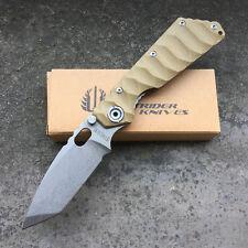 Strider Beige G10  Einhandmesser Jadpmesser Klappmesser Messer Hunting Knife NEU