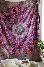 Queen Size Indian Rajasthani Ghoomar Style Wall Decor Cotton Tapestry Bedspread