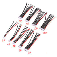5Pcs 2-10P LiPo Battery Balance Charger Cable Wire 22AWG JST-XH Balancer CablU_X