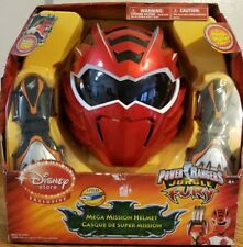 Red Power Rangers Jungle Fury Mega Mission Helmet Halloween Costume Disney Sound
