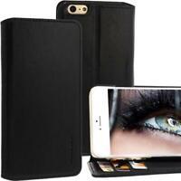 Exxcase Custodia IN Pelle Per Apple IPHONE 6 Plus Nero Cellulare Smartphone