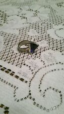 Sterling Silver & Sapphire Unusual Setting Ring, size 6