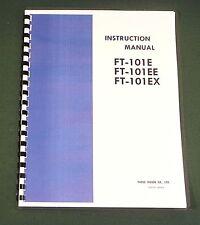 "Yaesu FT-101E/EE/EX Instruction Manual: 11"" X 36"" Schematic & Plastic Covers!"