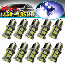 20x Cool White 1156 BA15S 5050 13SMD Car RV Trailer Turn Signal LED Light Bulbs