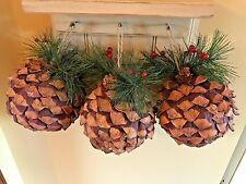 Lot of 3 Bigger Pinecone Ornaments