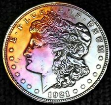 1921 P Morgan Dollar MS UNC Full Stage Toning 9 22 1