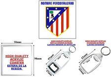Llavero Keyring Club de Fútbol ATLETICO MADRID Nombre Personalizado Cumpleaños