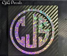 Glitter Monogram Car Truck boat laptop cooler vinyl accessories sticker lady fun