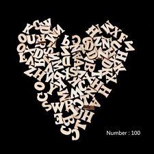 100pcs Wooden Letters Alphabet Sticker Scrapbooking Craft DIY Embellishments