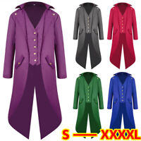 Retro Steampunk Swalow Gothic Men Tailcoat Jacket Ringmaster Tail Coat Waistcoat