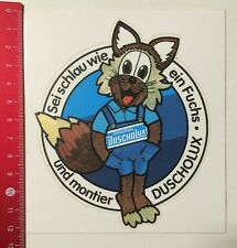 ADESIVI/Sticker: original duscholux-sia furbo come una volpe (050516154)