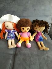 "TY DORA THE EXPLORER 8"" Plush & friends bundle of 3"