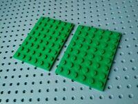 Lego Plate 6x8 [3036] Green x2