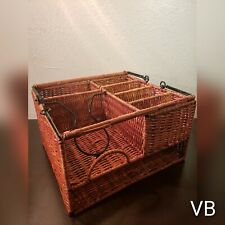 Wicker Rattan Serving Basket
