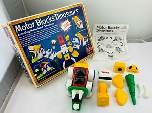 1995 Motor Blocks Dinosaurs by Tomy Working, Complete in Great Cond FREE SHIP