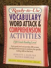 5th Grade Ready-To-Use Vocabulary, Word Analysis & Comprehension Activities: