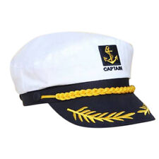 White Sailor Ship Boat Captain Hat Navy Marins Admiral Adjustable Cap Creative