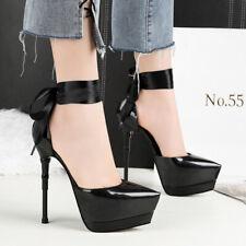 Sexy Women Banquet Stiletto High Heel Party Shoes Bandage Strap Platform Sandals