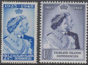 Stamps 1948 Falkland Islands Dependencies Royal Silver Wedding pair, SG G19/20