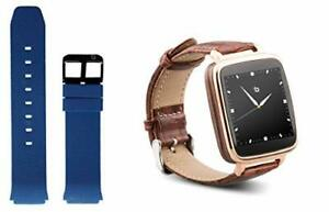 Beantech S1 Smart Watch for Apple/Android Phones. Gold with Brown Croc-Emboss...