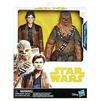 "Disney Star Wars Han Solo Hero Series 2 - Pack ( Han Solo & Chewbacca 10"" Tall)"