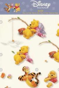 Disney Winnie The Pooh - various -  2*Non-die-cut Studio Light Decoupage Sheets
