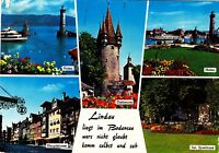 Lindau / Bodensee , gelaufene Ansichtskarte