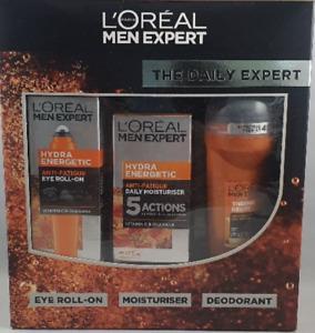 Loreal Men Expert Los Diario Set Regalo, Ojo Roll-On, Hidratante, Desodorante