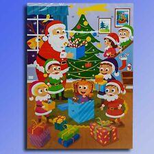 Père Noël et Elfes Chocolat Calendrier de L'Avent Chocolat Noël Calendrier