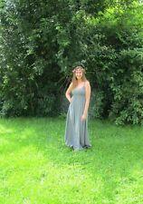 Bodenlange Damenkleider im Boho -/Hippie-Stil ohne Muster