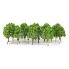 20pcs Miniature Tree Models Train Scenery Railroad Supplies Green 7.5cm