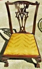 MAHOGANY CHIPPENDALE  HAND CARVED CHILDS CHAIR