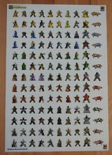 Carcassonne - 130 Meeple Stickers, Brand New