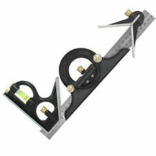 """300mm Adjustable Tyr Square Angle Spirit Level Combination Engineers Square 12"""""""