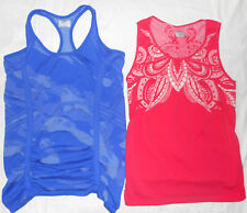 Lot of 2: Athleta seamless tops RED and BLUE, size L/M