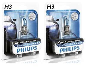 2 Bulb H3 PHILIPS Blue Ultra Mitsubishi Galant Fog Lights Xenon 55W