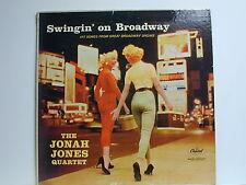 The Jonas Jones Quartet - Swingin' On Broadway, Capitol T963, 1958 Mono LP