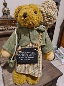 Vintage OLDSTREET TRADING bear.- Standing  33cm Tall