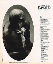 PUBLICITE  1977   ALEXIS BARTHELAY   colection montres