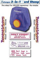 X-Stamper 3-in-1 Teacher Reward Stamper - 100.000 impresions - Re-inkable - 005