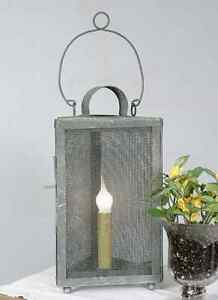 Screened Accent Light in distressed Tin