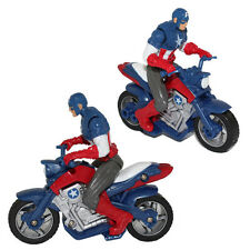 10cm Captain America Avenger wth Bike Motorcycle Superhero PVC Action Figure Toy