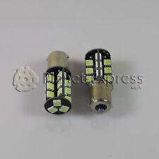 2 x Glühbirnen 27 LED SMD CANBUS BAU15S Auto Bremse, DRL Glühbirne Weiß Xenon