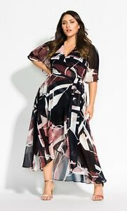 CITY CHIC XXL 24 NWT RRP $129.95 MAXI SAHARA DRESS